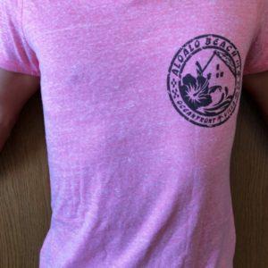 大人用Tシャツ レッド(ピンクに近い)前